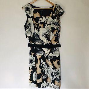 White House Black Market silk ruffle dress